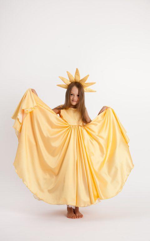Dizlėja - karnavaliniai kostiumai vaikams. Saulės karnavalinis vaikiškas kostiumas