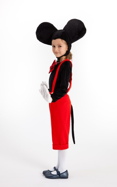 Dizlėja - karnavaliniai kostiumai vaikams. Peliuko Mikio karnavalinis vaikiškas kostiumas